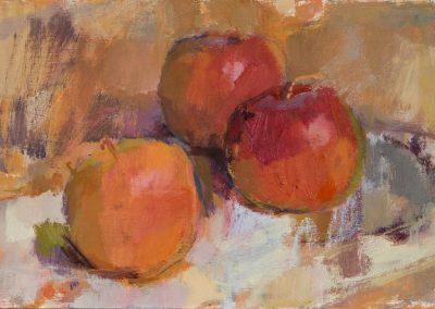Apples oil on panel 26x15cm 2017