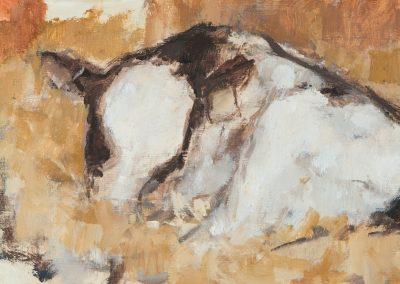 Calf 1 oil on panel 26x15cm 2016