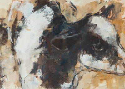 Calf 2 oil on panel 26x15cm 2016