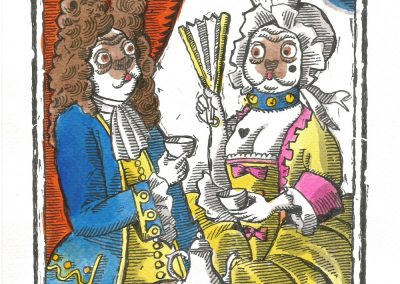 Mr & Mrs Pug take tea