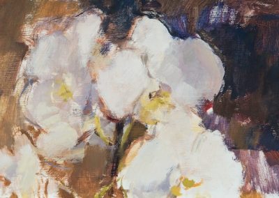 Orchid oil on panel 26x15cm 2016