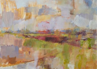 Spring landscape. oil on canvas 40x30cm 2017